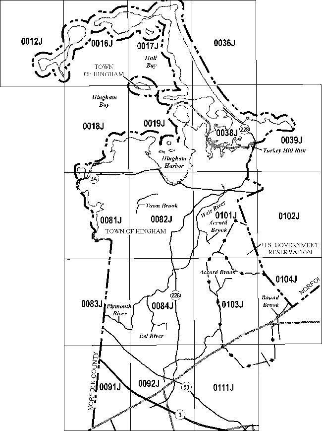 FEMA Flood Insurance Rate Maps | Hingham, MA