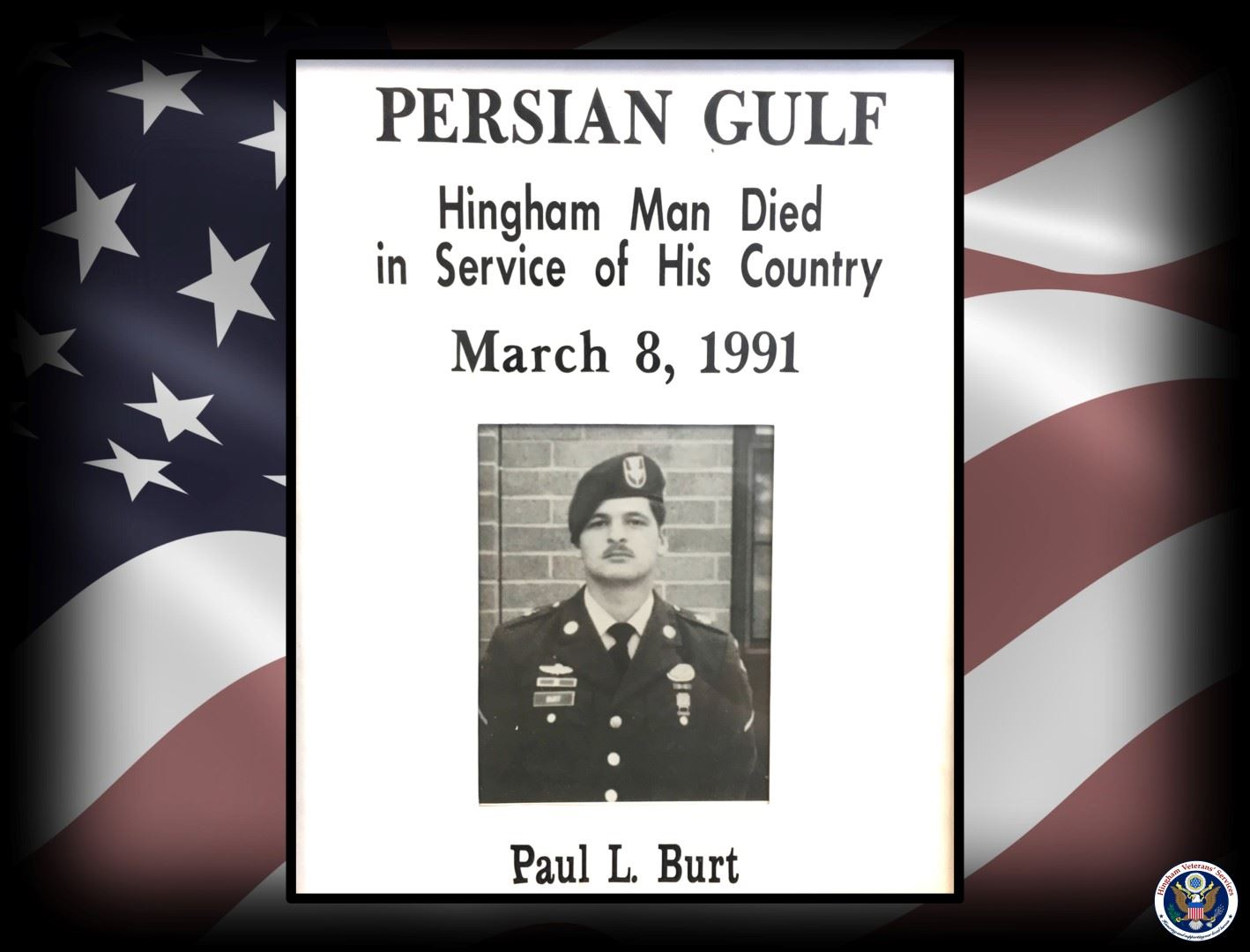 Photo of Sgt. Paul L. Burt