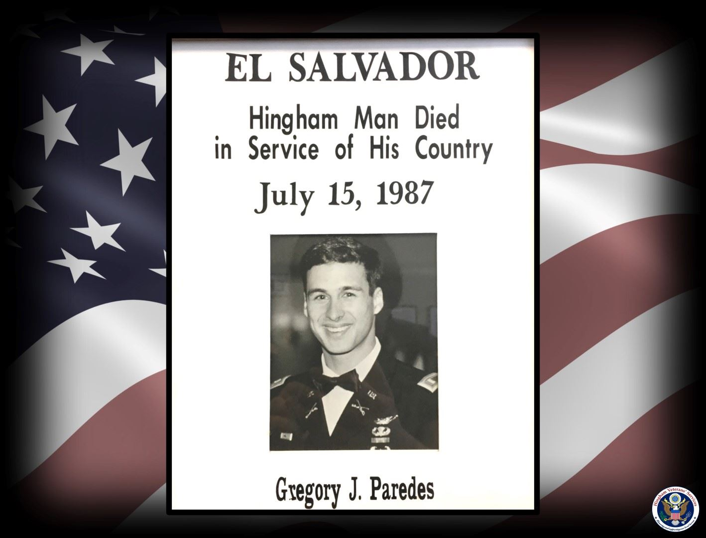 Photo of 2nd Lt. Gregory J. Paredes
