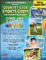 country club sports flyer