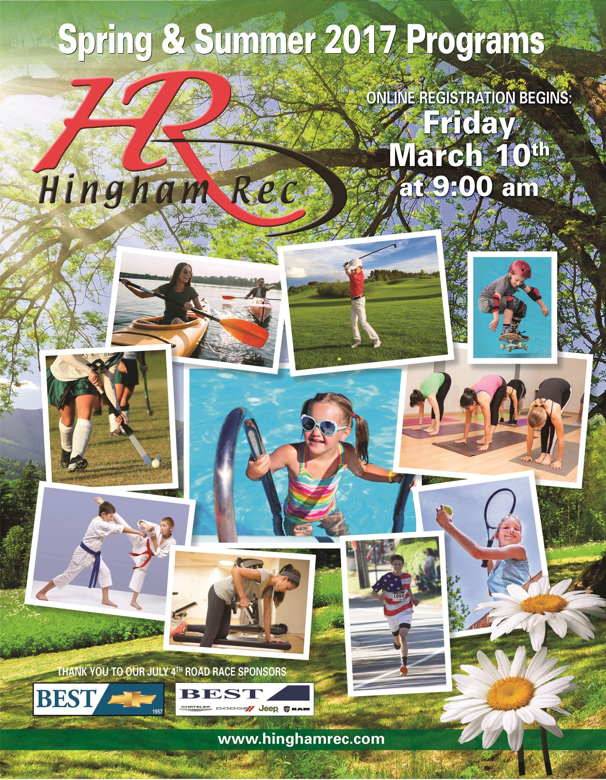 recreation hingham ma spring brochure