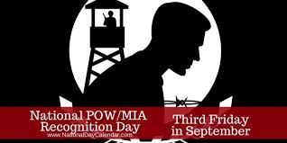 POW/MIA Awareness Day - 3rd Friday in September