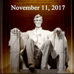 Veterans Day, November 11th, 2017 - Image of Abraham Lincoln&#39s Washington D.C. Memorial with quot