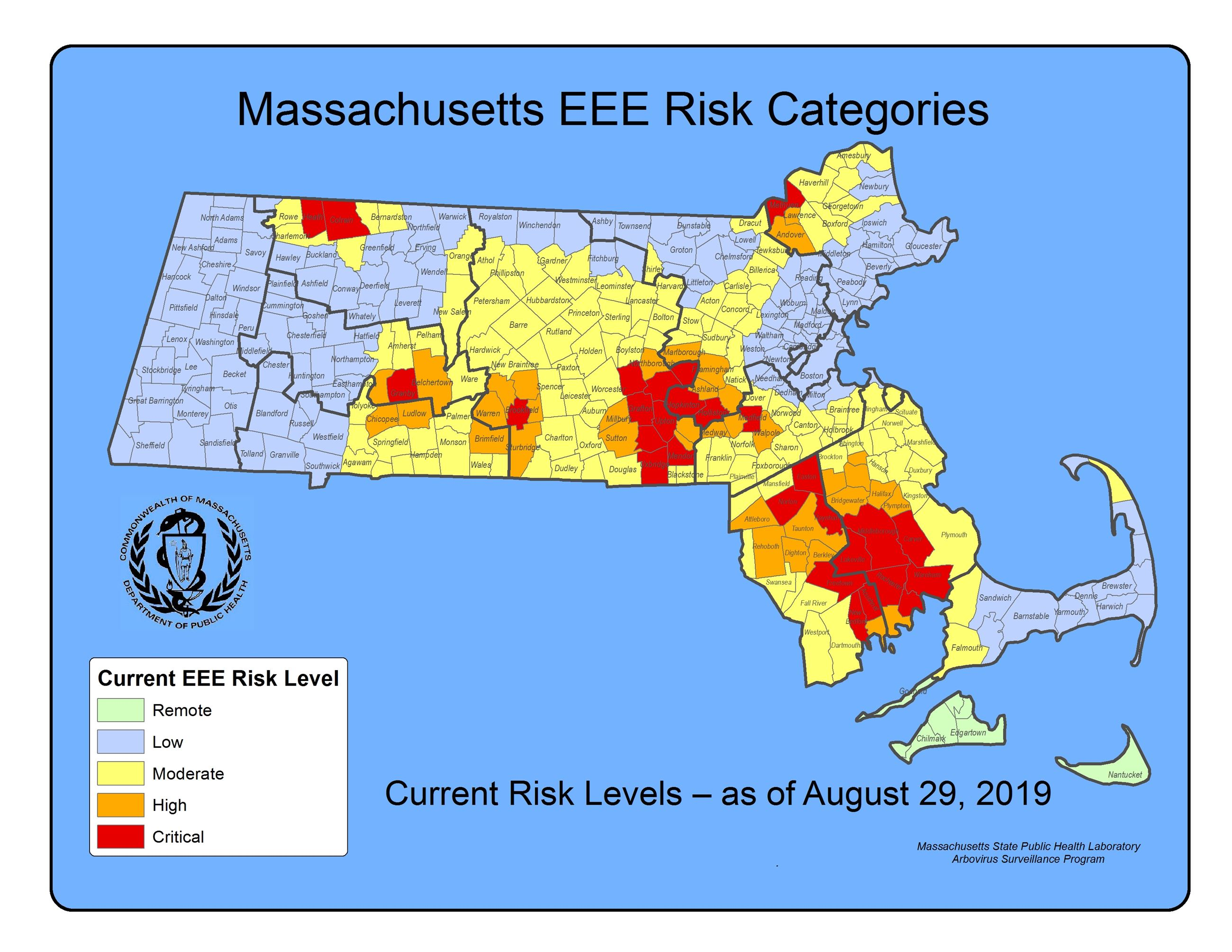 Massachusetts EEE Risk Categories