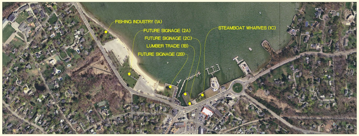 Sign Location Map Hingham Harbor