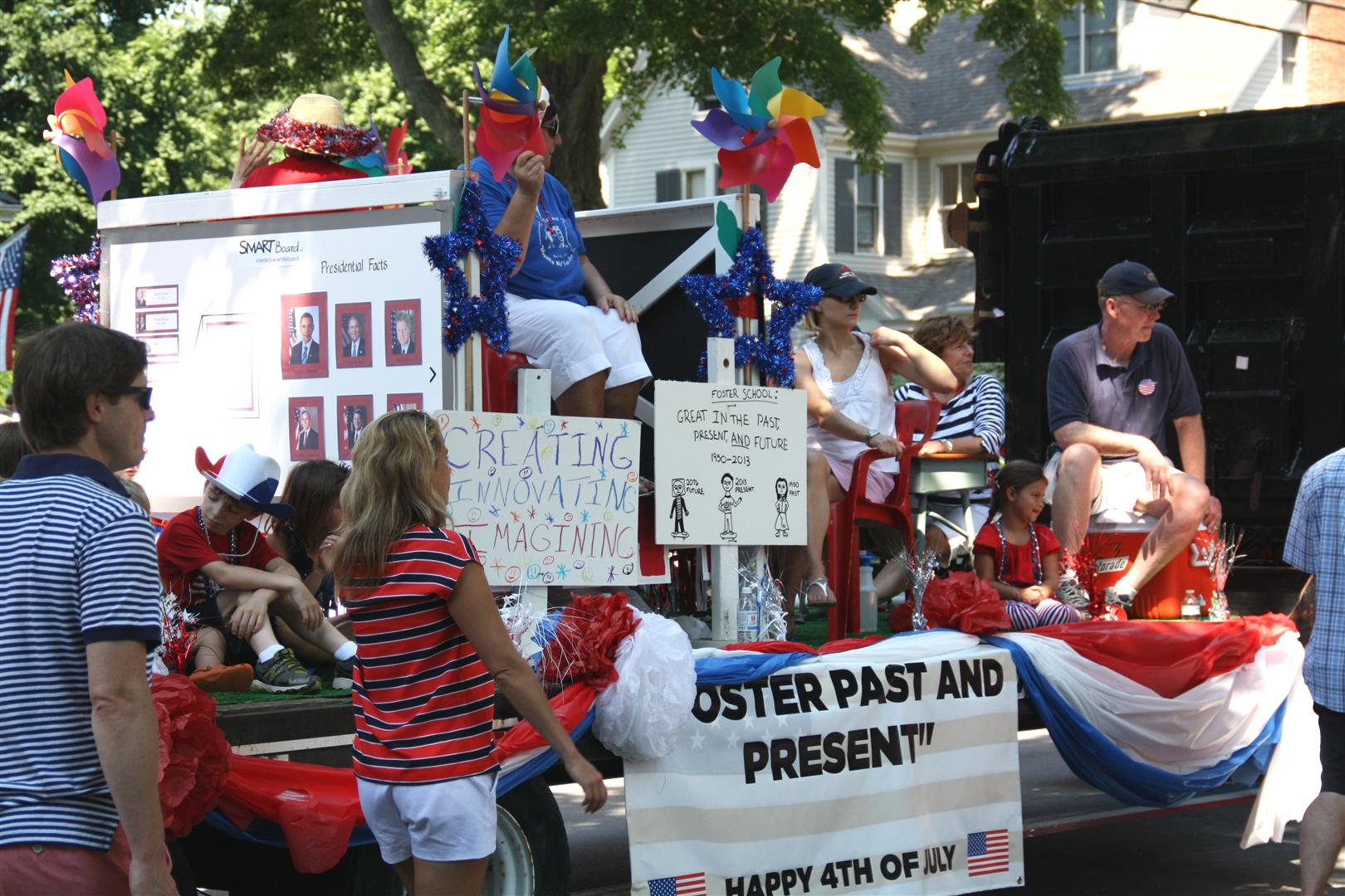 Foster Past and Present Float