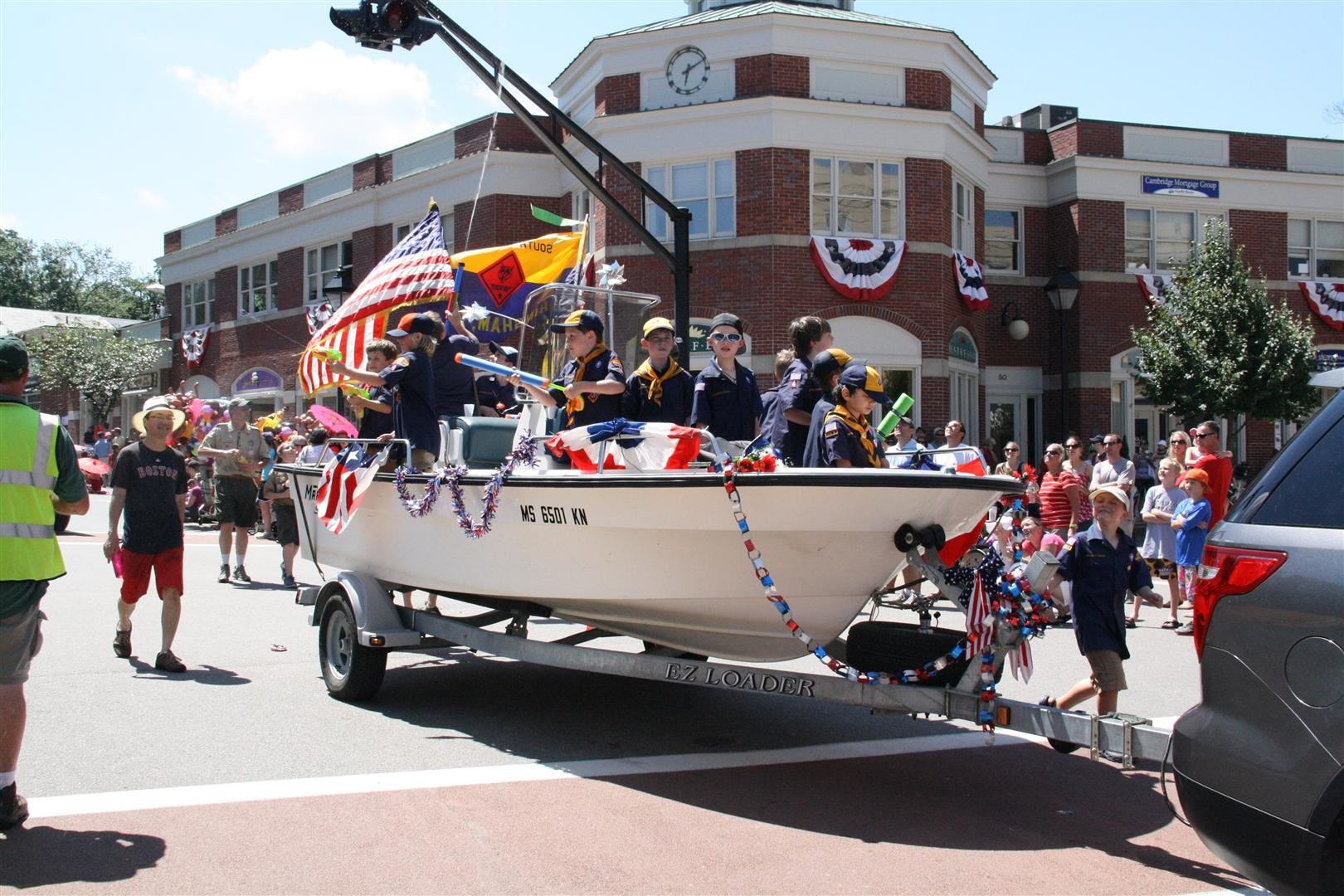 Hingham Boy Scouts head through downtown