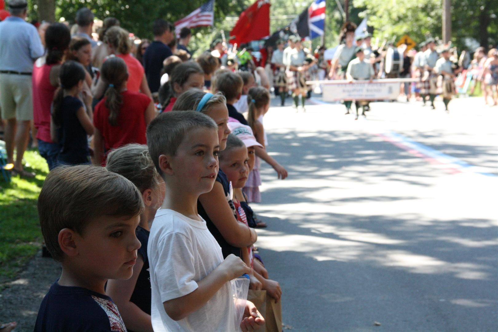 Hingham Children Watching the Parade Processions
