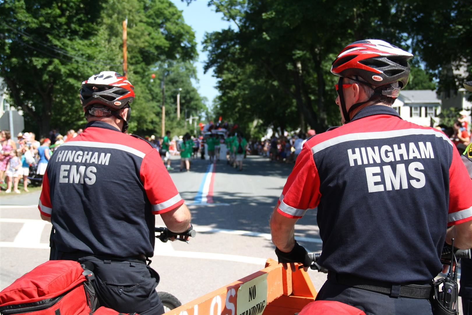 Hingham EMS Staff on Bicycles