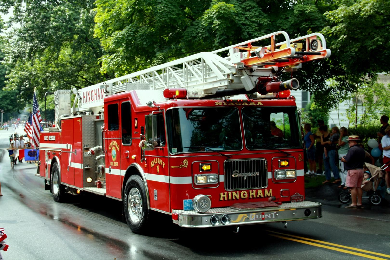 Quint 1 of the Hingham Fire Department