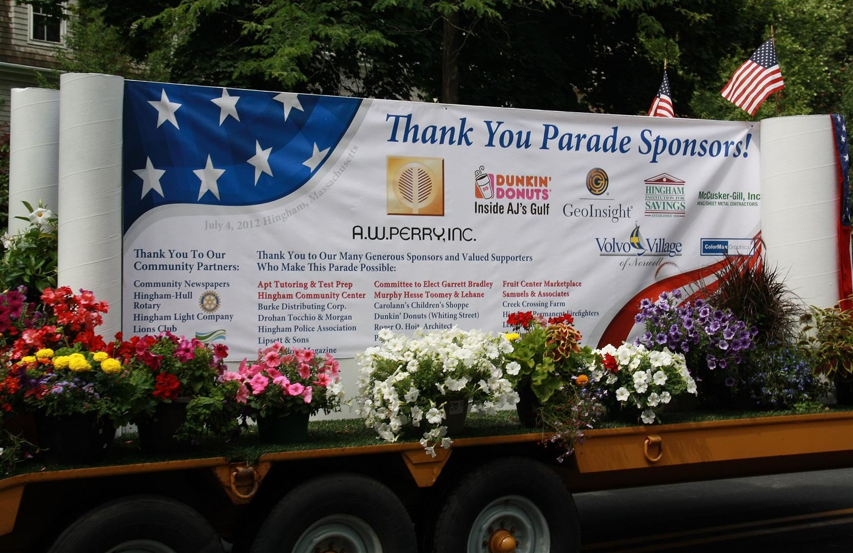Thank you to all of our 4th of July Parade Sponsor