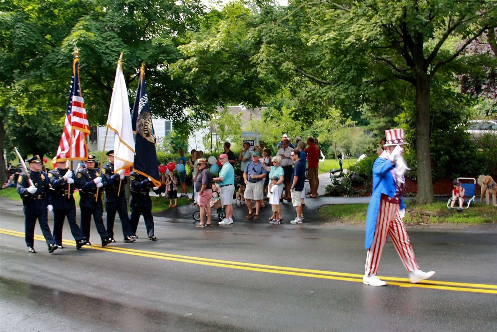 Uncle Sam and the Hingham Police Honor Guard