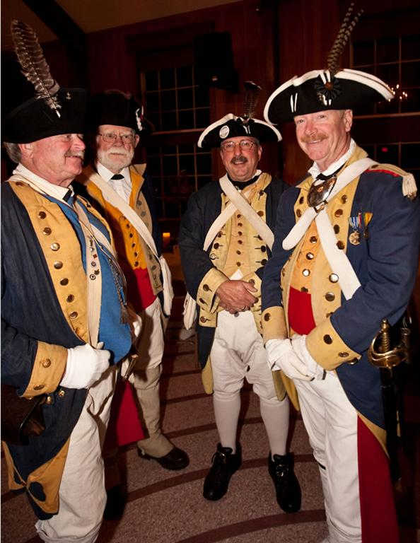 Hingham Militia provide security at the 375th Gala
