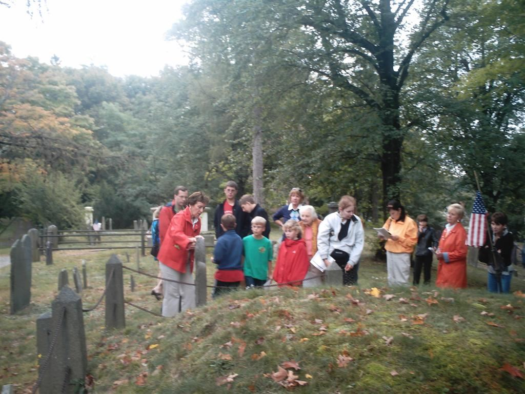 Tour at the grave of Madam Sarah Derby