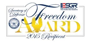 ESGR 2015 Freddom Award Recipient